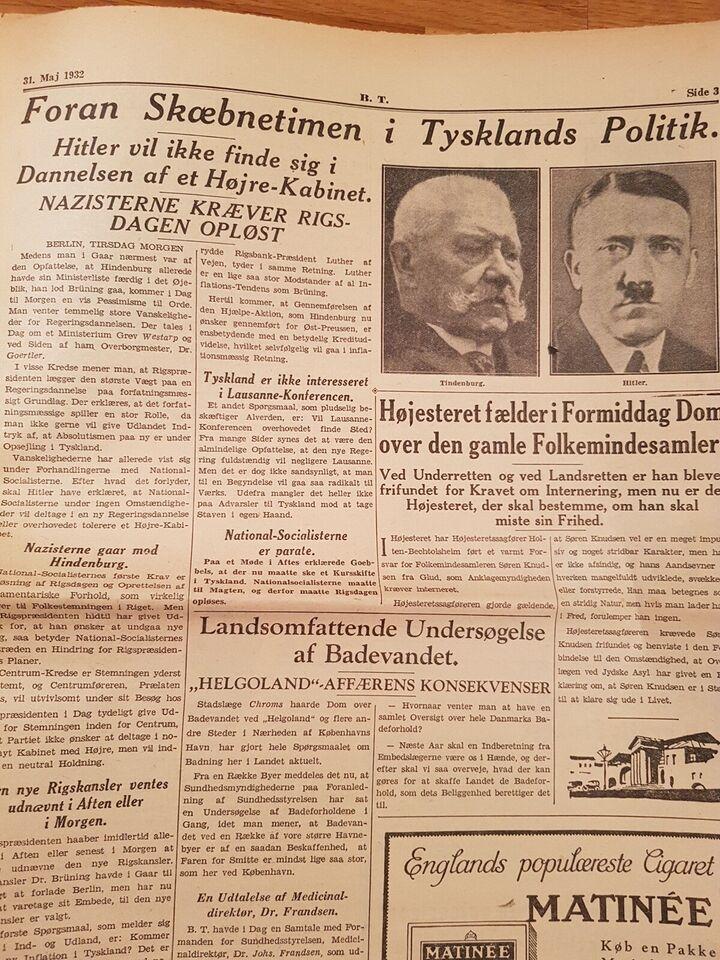 Bøger og blade, BT 1932