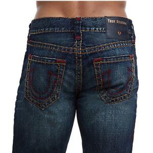 96b898c6a True Religion Men s Ricky Super T Straight Fit Jeans in Dark ...