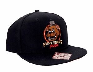 FNAF FIVE NIGHTS AT FREDDY S FREDDY FAZBEAR S PIZZA SNAPBACK HAT ... 87d04ce76e6c