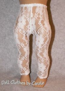 "White Lace Leggings fit 18"" American Girl Doll - Clothes"