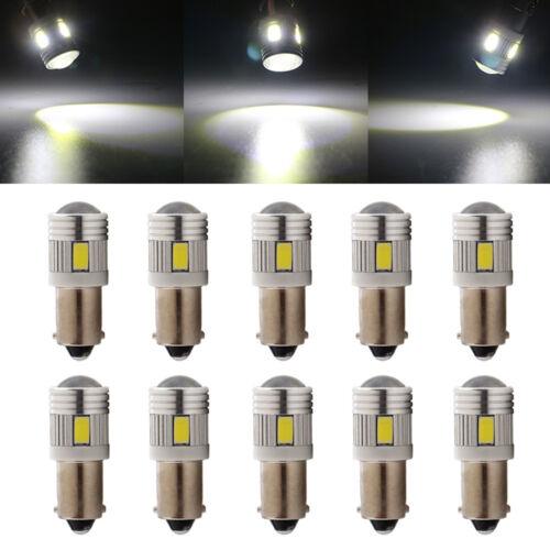10Pcs T11 T4W H6W BA9S 5730 6-SMD Led Wedge Side Door Light Bulb Lamp White 12V