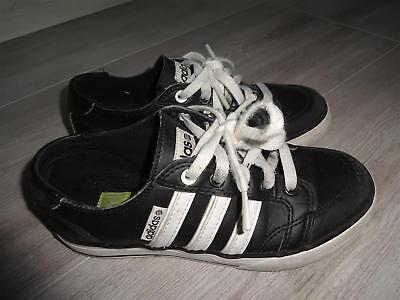 + + Top! Sneaker Adidas Scarpa Basse Taglia 34.. Nero Lacci + +-mostra Il Titolo Originale