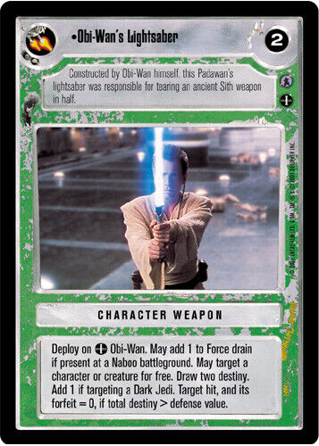 SWCCG Ref III Obi-Wan's Lightsaber NM Star Wars CCG Reflections 3