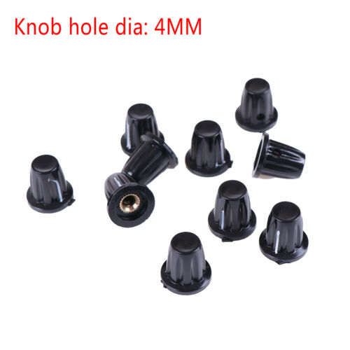 4 mm pour WXD3-13 WH5 WXD3-12 K17-01 10Pcs bakélite Potentiomètre Bouton Trou