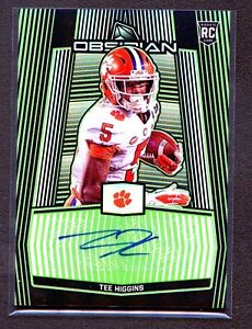 TEE-HIGGINS-2020-Obsidian-ELECTRIC-ETCH-AUTO-SSP-Rookie-RC-10-RARE