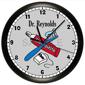 Image Is Loading DENTIST OFFICE WALL CLOCK  PERSONALIZED GIFT DOCTOR HYGIENIST