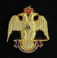 Masonic Scottish Rite 33rd Degree Eagle Lapel Pin (33eg-1)