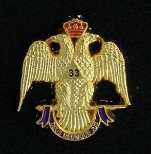 Masonic Scottish Rite 32nd Degree Eagle Lapel Pin Mason Freemason