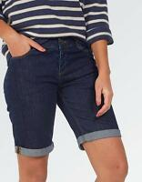 ex- Fat Face Women's All Calm Bermuda Denim Shorts (FFW-08) In Store RRP - £40