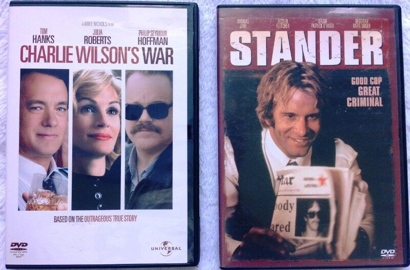 Two DVDs - Stander and Charlie Wilsons War