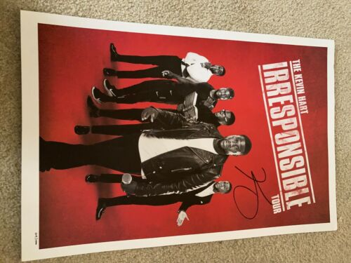"""Kevin Hart """"Irresponsible Tour"""" SIGNED poster"""