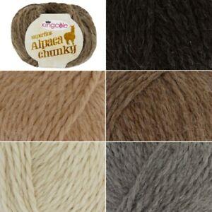 King-Cole-Superfine-Alpaca-Soft-Chunky-Yarn-Knitting-Wool-Crochet-50g-Ball