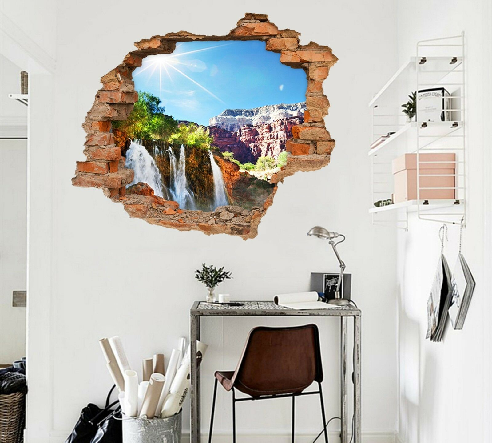 3D Cliffs Sonne 708 Mauer Murals Mauer Aufklebe Decal Durchbruch AJ WALLPAPER DE