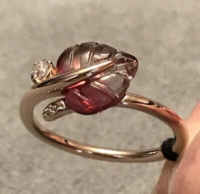 Pandora Rosa Oro Rosa Anillo De Hoja De Cristal De Murano Otoño 2019 188319 Pmu 50 Caja Nuevo Ebay