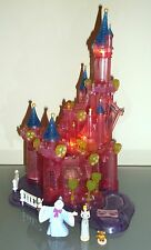 Disney Vintage-Polly-Pocket-Cinderella Light Up castle  & 3 Figures