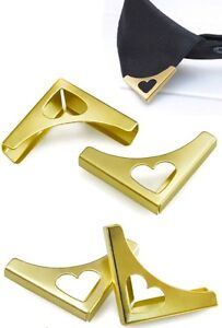 collar brooch 2 Pieces Blouse Shirt Metallic Metal Pointed Collar Clips Wing Tip