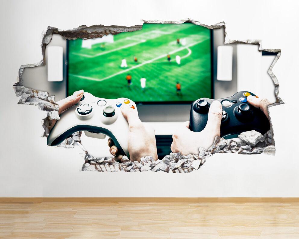 Q631 Xbox juego manía dormitorio TV ro pegatina pared vinilo 3d habitación niños