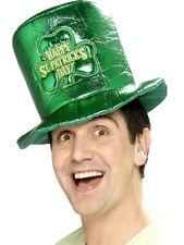 Happy S. Patrizio Cappello irlandese verde lucido Cappello-Costume da uomo