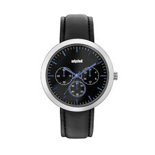 Unlisted Kenneth Cole Men's Analog Black Leather Band Watch UL1956