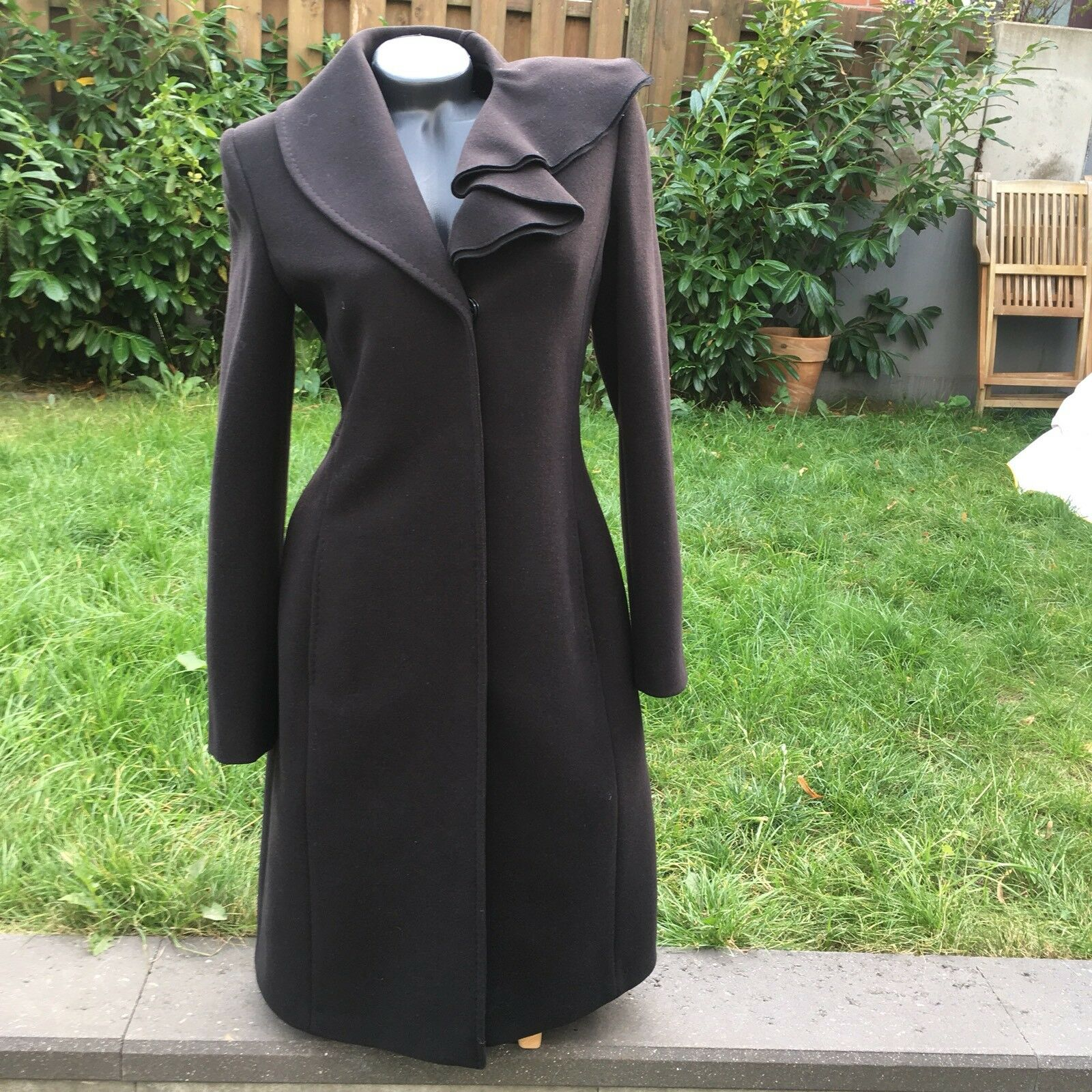 Der Schwarze Mantel, Сoat Von KENT, Größe 2 (S), Wool, New