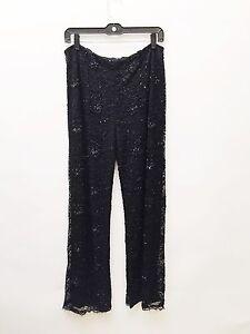 Pants Beaded Size 12 Black Mischka Badgley wvXqPP