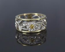 $2200 Simon G 18K Yellow White Gold Diamond Garden Flower Collection Ring Band 6