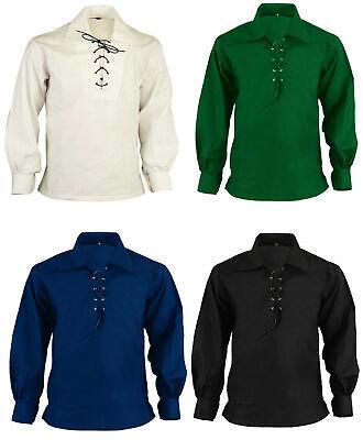 Brillante Men's Kilt Scozzese Giacobita Ghillie Camicia 4 Colori Diversi Per Piccole 5xl-mostra Il Titolo Originale