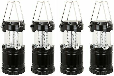 4 Portable Collapsible 360 LED Lanterns Tac Light Lamps Emergency Camping - NEW