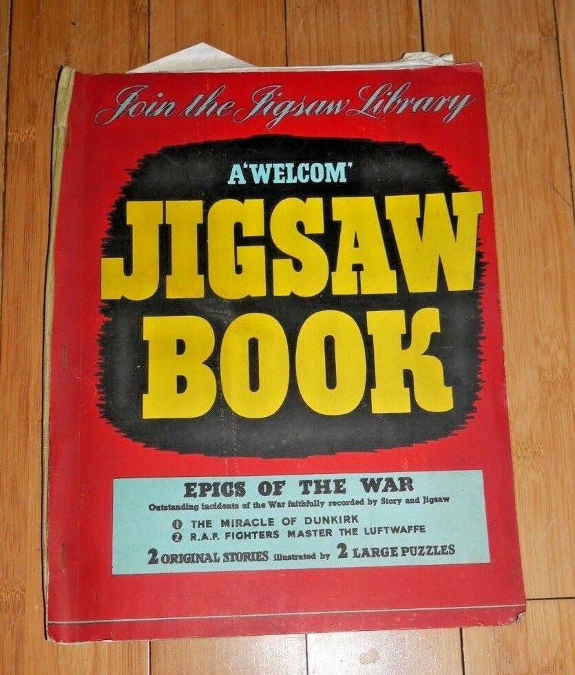 Very Rare A 'Welcom' Jigsaw Book Epics of the War WW2 Dunkirk RAF Luftwaffe C999