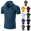 Men-039-s-Slim-Fit-Shirts-Short-Sleeve-Casual-Gol-T-Shirt-Jersey-Tops-Muscle-Tee thumbnail 2