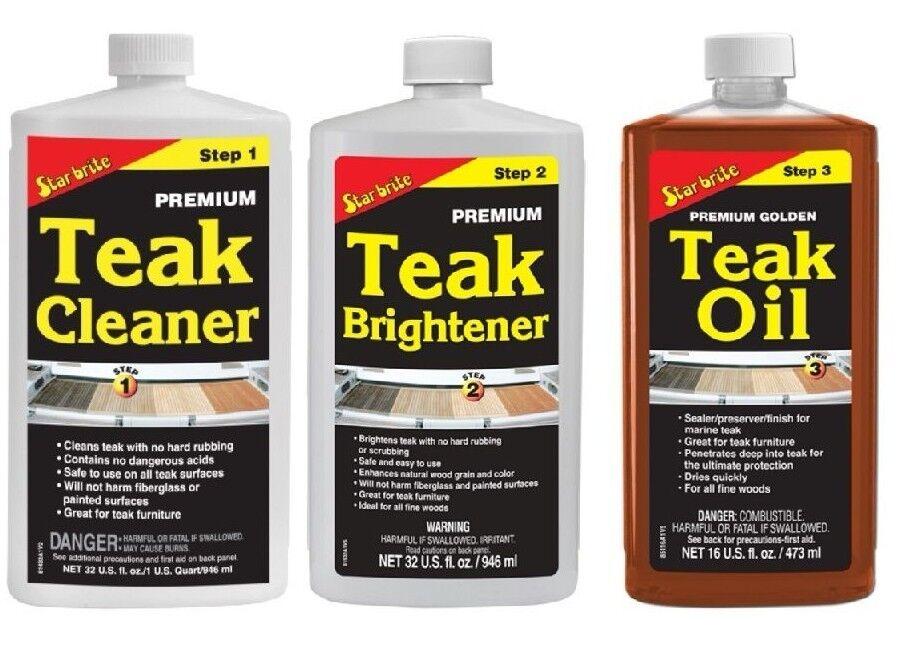 Starbrite Teak Care Teak Cleaner Teak Brightener Teak Oil 473ml