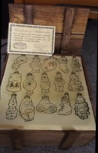 B-Vintage-2000-Thomas-Pacconi-Blown-Glass-30-Ornaments-Museum-Series