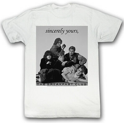 White Men/'s Black T shirt Sincerely Yours The Breakfast Club