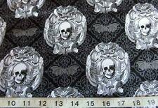 Tela de Cráneo Gótico Halloween por Michael Miller 100% algodón Vendido por cuarto gordo