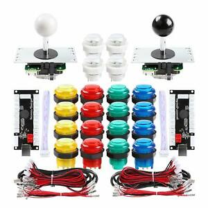 Details about 2 Player Arcade LED Button, Joystick and USB Encoder Kit  Parts for Mame PC Games