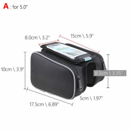 Holder Front Double Pouch Top Frame Pannier Saddle Bike Cycling Bicycle Tube Bag