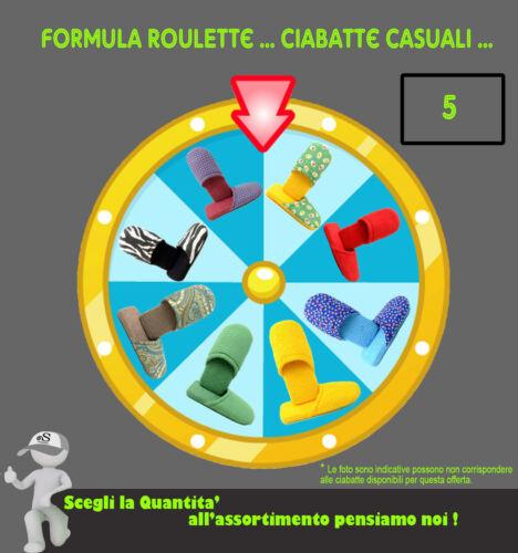 Ciabatte in Spugna CASUALI Formula Roulette Ciabattine Pantofole Uomo e Donna