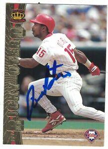 Ricky Otero Philadelphia Phillies 1997 Pacific Authentic Autograph COA