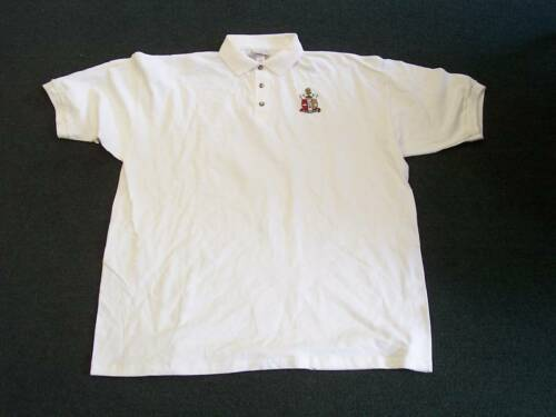 Kappa Alpha Psi White Polo With Crest on Left Chest