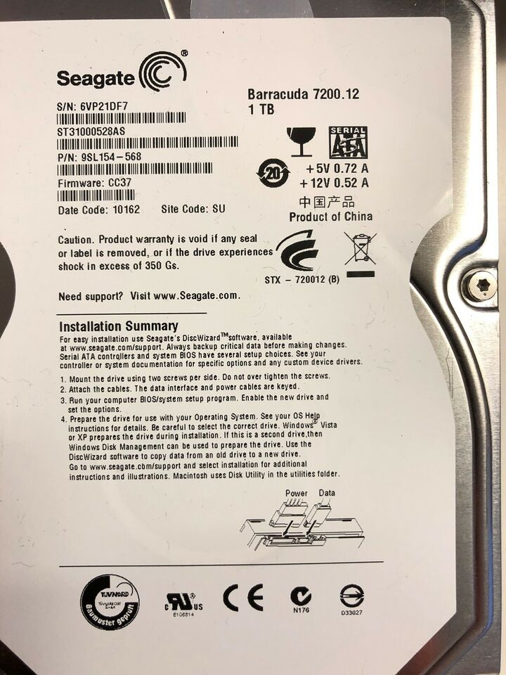 Seagate, 1000 GB, God