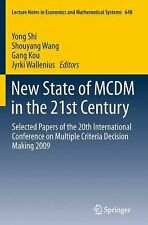 Lecture Notes in Economics and Mathematical Systems Ser.: New State of MCDM...