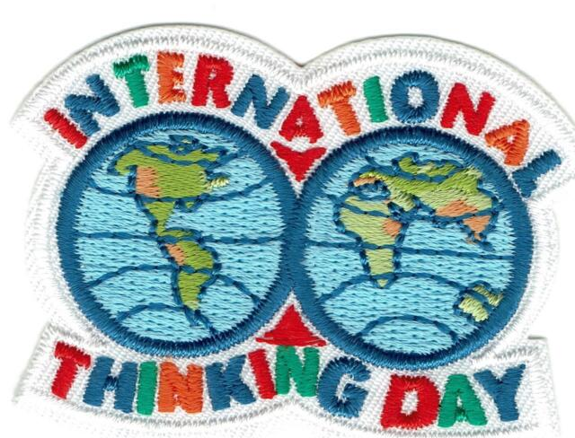 Girl White International Thinking Day Fun Patches Crests Badges Scout Guide