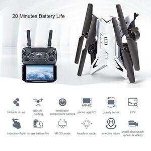 KY601S-RC-Drone-Con-Camara-Angulo-Lente-1080P-HD-Cuadricoptero-Video-WiFi-FPV
