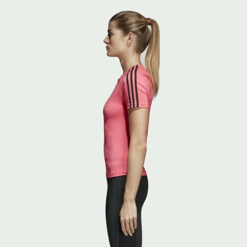 de 78 Stripe corta Camiseta 3 para mujer D2m 95 Rrp manga Adidas dUSvSwx