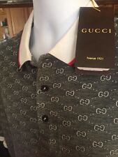 GUCCI Casual T-Shirt Size M,L,XL,gg,Monogram White & Black