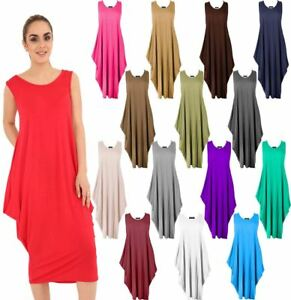 fb6559c050a6 Image is loading Womens-Lagenlook-Italian-Parachute -Tulip-Dress-Ladies-Sleeveless-