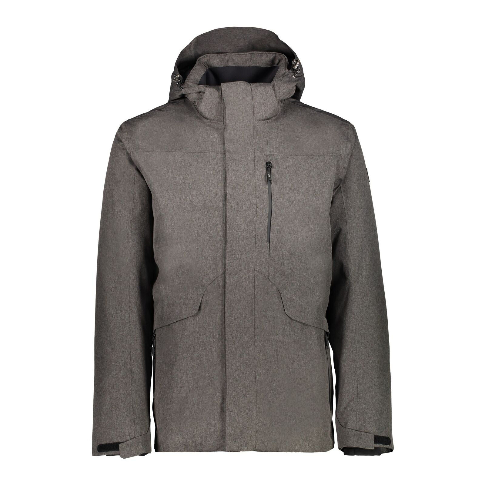 CMP hidrófuga chaqueta man long Jacket ZIP Hood marrón viento denso