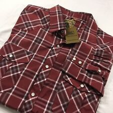 e5ee98061aa Coevals Club Mens 3XL Long Sleeve Casual Western Plaid Pearl Snap Buttons  Shirt