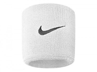 Industrioso Bianca Nike Swoosh Braccialetti Sudore Sport Tratto Insieme 2 Campi Da Calcio
