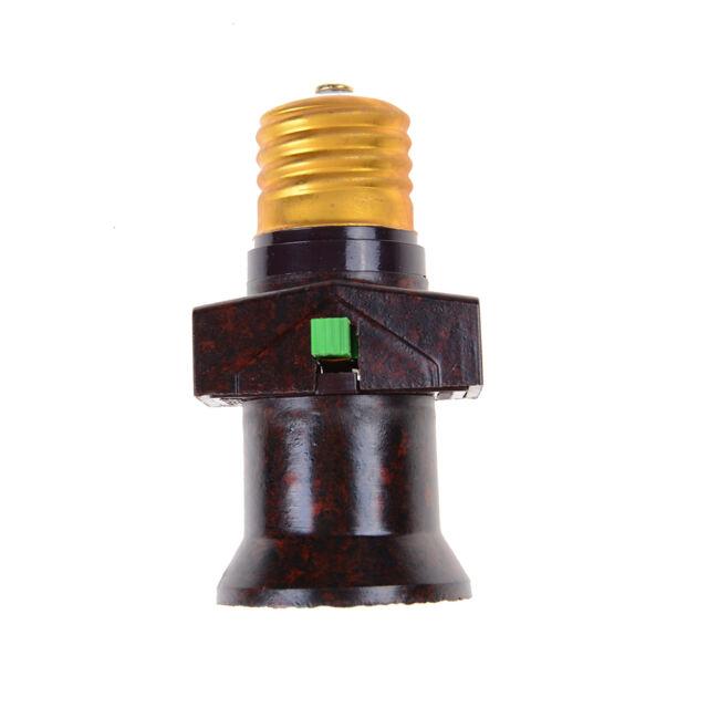 E27 Wall plug-in Screw Base Round Light Bulb Lamp Socket Holder Adaptor _s/